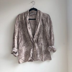 VINTAGE 100% silk paisley top